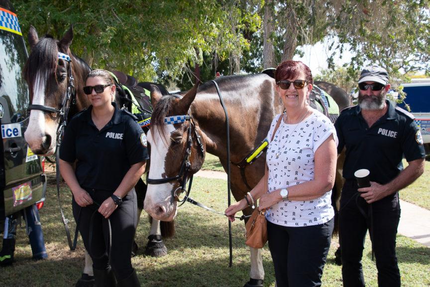 Merrisa meets Police Horses from Darwin