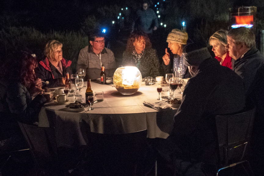 As the night moved on, more wine and more laughs were had as the bush tucker inspired food was enjoyed