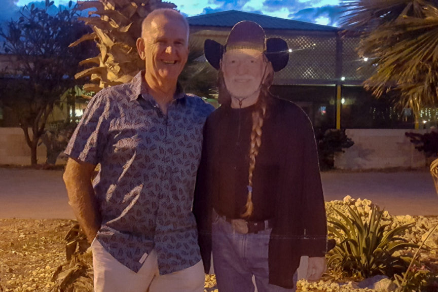 Neil meets Willie Nelson