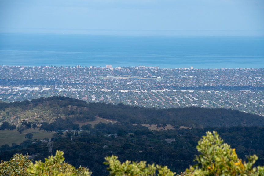 Mt Lofty view over Adelaide