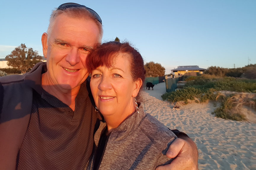 Rockingham Beach sunset selfie