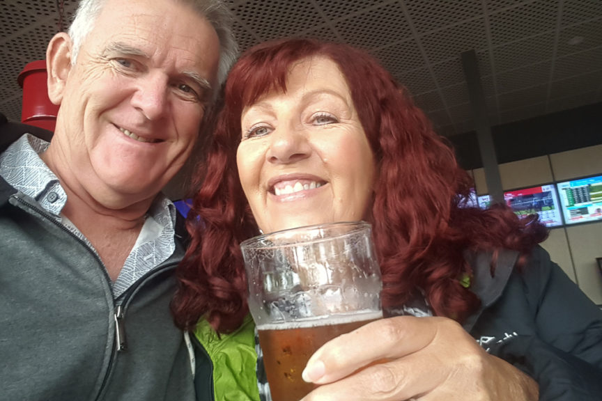 Beers at the footy