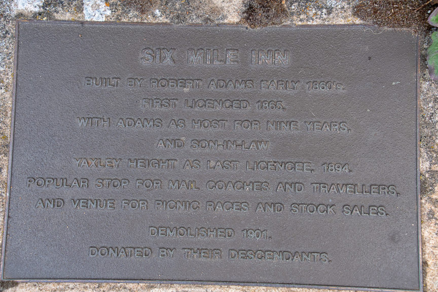 Six Mile Inn Historic Marker